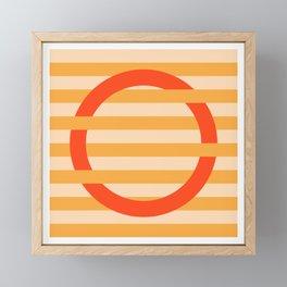 GEOMETRY ORANGE III Framed Mini Art Print