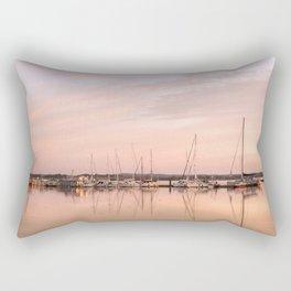 Pink sundown at the sea Rectangular Pillow