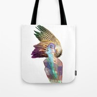india Tote Bags featuring India by Isabel Martinez Isabel