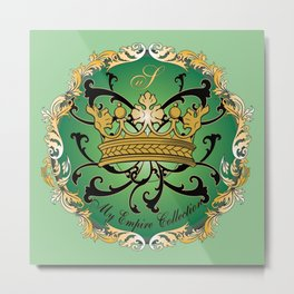 My Empire Collection Summer Set mint green Crown Metal Print