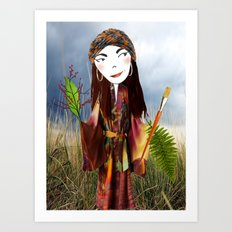 Our Lady of the Prairie Art Print