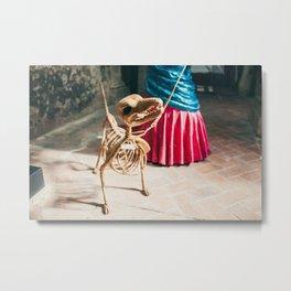 Skeleton dog Metal Print