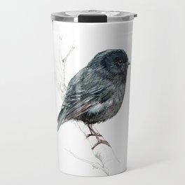 Black Robin Travel Mug