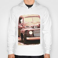 truck Hoodies featuring Old Truck by Regan's World