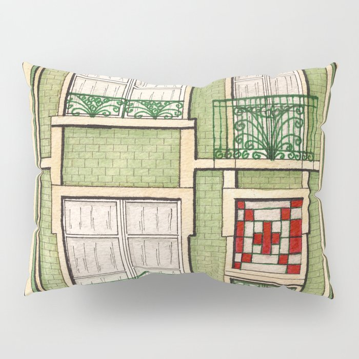 vintage town house Pillow Sham
