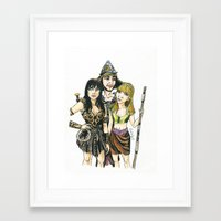 xena Framed Art Prints featuring Xena by Arlie Opal