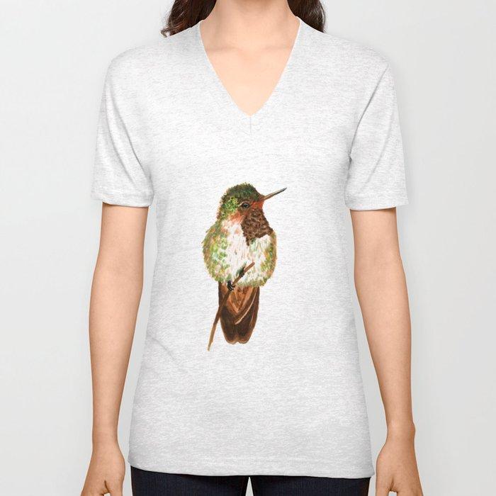 Volcano Hummingbird Unisex V-Neck