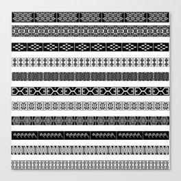 Borders ikat ethnic frame tribal ----- Canvas Print