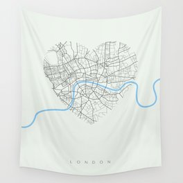 Streets of London Wall Tapestry