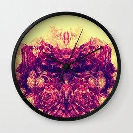 Mirroring Petals Wall Clock