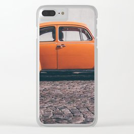 the orange one Clear iPhone Case