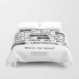 Bleepin' Words Duvet Cover