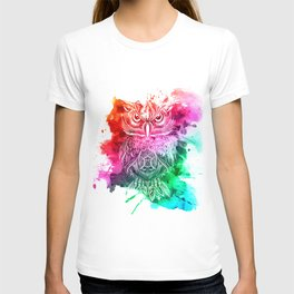 owl watercolor painting T-shirt
