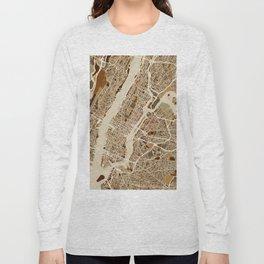 New York City Street Map Long Sleeve T-shirt