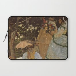 Monet- Women in the Garden, nature,Claude Monet,impressionist,post-impressionism,painting Laptop Sleeve