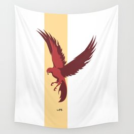 Red Falcon Wall Tapestry