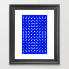 Dots / Blue Framed Art Print