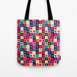 Geometric pattern with shapes Tote Bag