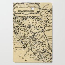 Vintage Map of Nicaragua and Costa Rica (1764) Cutting Board