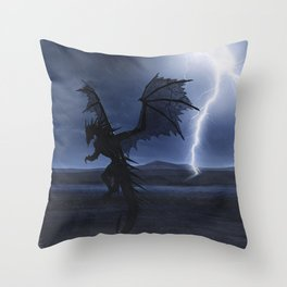 Dragon in the darkness Throw Pillow