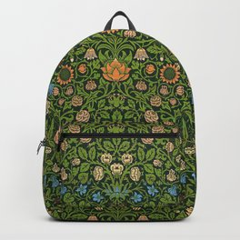 Violet and Columbine by William Morris Backpack