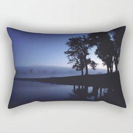 Misty Fishing Rectangular Pillow