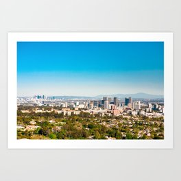 Clear and Sunny Lalaland to Downtown Los Angeles Views Art Print