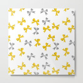 Yellow bow Metal Print