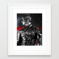 avenger Framed Art Prints featuring First Avenger by p1xer