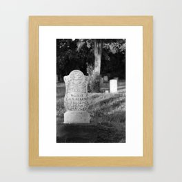 Looper's Cemetery 3 Framed Art Print