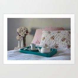 Tea in Bed Art Print