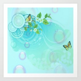 Contemporary Butterflies Art Print