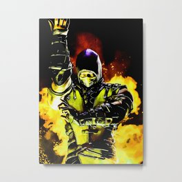 MK Video Game Metal Print