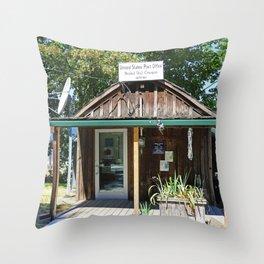 Bridal Veil Post Office Throw Pillow