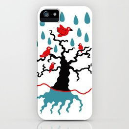 Birds in the trees iPhone Case