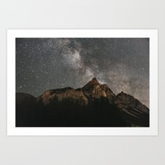 Milky Way Over Mountains - Landscape Photography Art Print