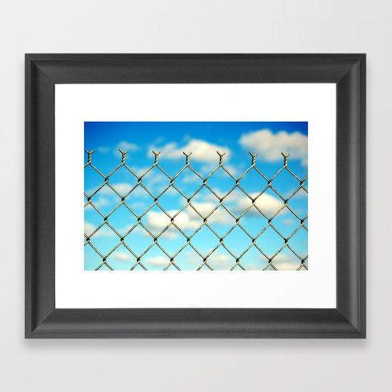 Boston Fence Framed Art Print