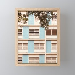 building windows Framed Mini Art Print