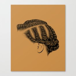 Crown: Flat Twists Canvas Print
