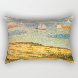 Port-en-Bessin Entrance to the Outer Harbor Georges Seurat - 1888 Impressionism Modern Populism Oil Rectangular Pillow