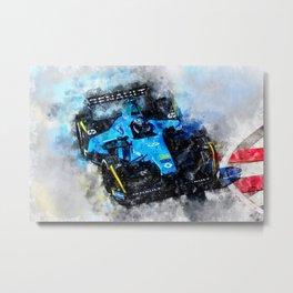 Nelson Piquet junior, Formula E Metal Print
