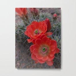 Alien Flowers Metal Print