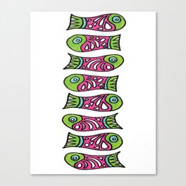 Row Of Fish Canvas Print