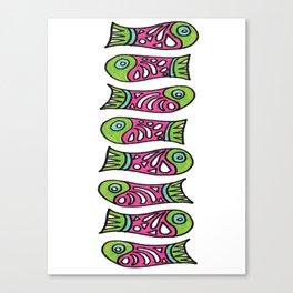 Row Of Fish Canvas Print