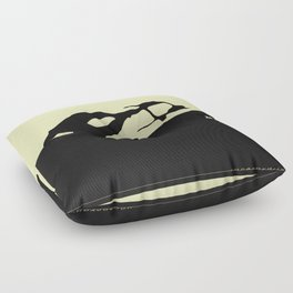 Saab 900 classic, Black on Cream Floor Pillow