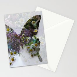 Beautiful floral butterfly Stationery Cards