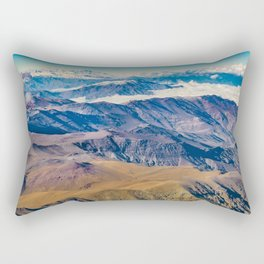 Andes Mountains Aerial View, Chile Rectangular Pillow