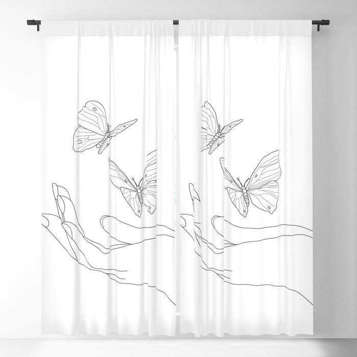 Butterflies on the Palm of the Hand Blackout Curtain