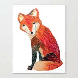 Sitting Fox Canvas Print