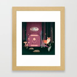 Sorcerer Of Woodland Charms Potions Spells And Fortunes Framed Art Print